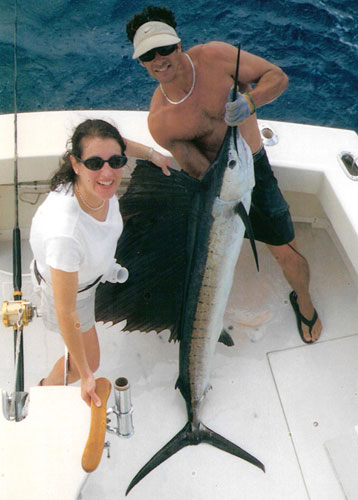 This big Sailfish was caught off Bal Harbour