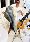 CThis 52 lb Mahi Mahi was caught while charter fishing aboard Old Hat